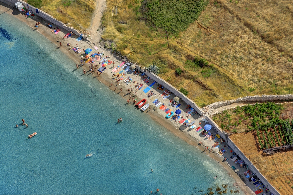 Bilin zal beach in Lumbarda, island Korcula