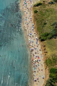 Sandy Beach Pržina in Lumbarda, island Korčula