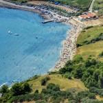 Easy to reach by car sandy beach Pržina in Lumbarda